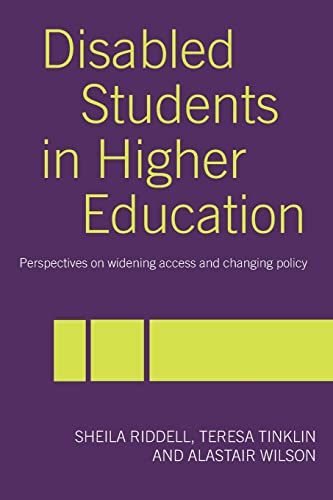 9780415340793: Disabled Students in Higher Education: Perspectives on Widening Access and Changing Policy
