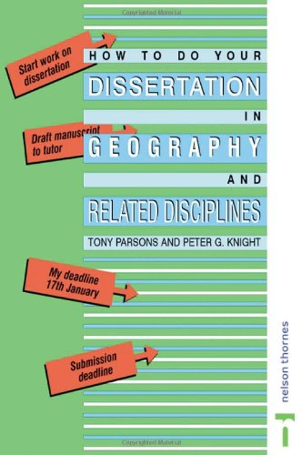 9780415341547: How To Do Your Dissertation in Geography and Related Disciplines