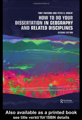 9780415341554: How To Do Your Dissertation in Geography and Related Disciplines
