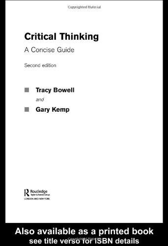critical thinking tracy bowell gary kemp
