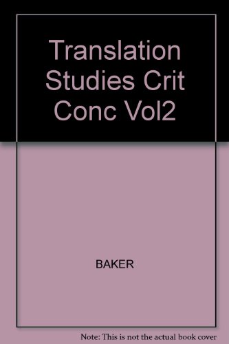 9780415344241: Translation Studies:Crit Conc V3