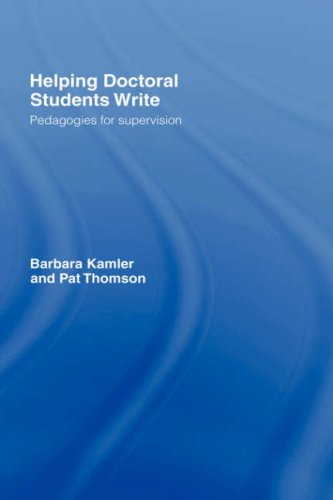 9780415346832: Helping Doctoral Students Write: Pedagogies for Supervision