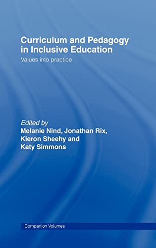 9780415352079: Curriculum and Pedagogy in Inclusive Education: Values into practice