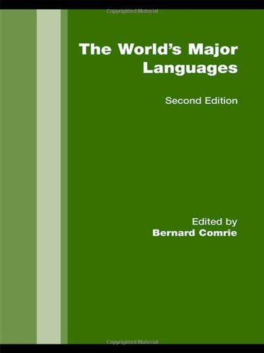 The World's Major Languages: Routledge