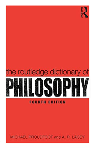 9780415356459: The Routledge Dictionary of Philosophy (Routledge Dictionaries)