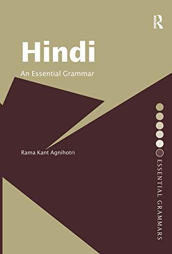 9780415356718: Hindi: An Essential Grammar (Routledge Essential Grammars)