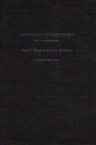 9780415358309: American Civilization: An Introduction