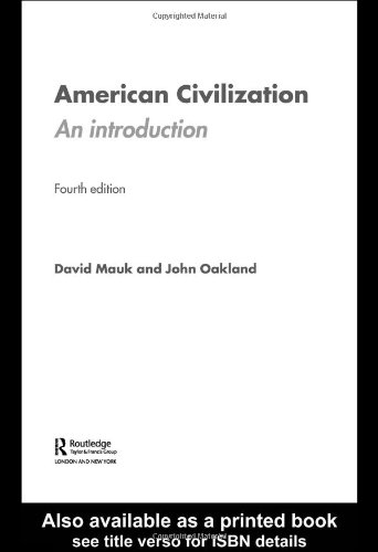 9780415358316: American Civilization: An Introduction