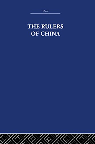 9780415361637: RLE: China: The Rulers of China 221 B.C.: Chronological Tables (China: History, Philosophy, Economics)