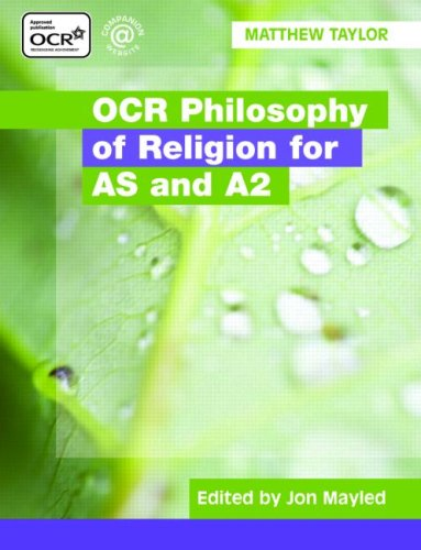 ocr philosophy of religion essays Ocr a2 philosophy and ethics syllabus checklist g581: philosophy of religion topic details done revised a2 essay questions 1.