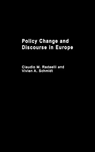 Policy Change & Discourse in Europe: Routledge