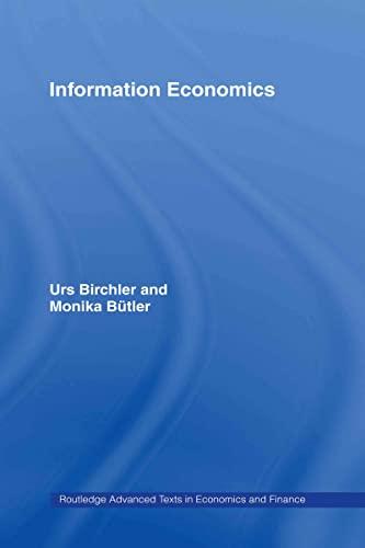9780415373463: Information Economics (Routledge Advanced Texts in Economics and Finance)