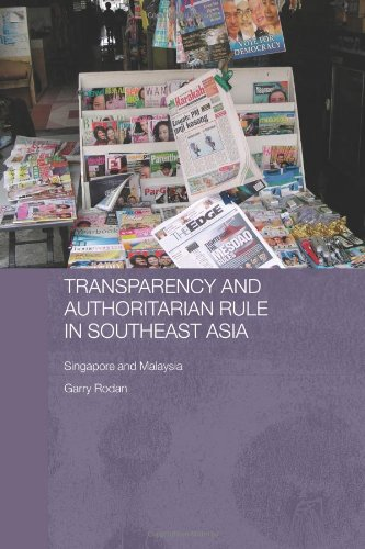 9780415374163: Transparency and Authoritarian Rule in Southeast Asia: Singapore and Malaysia (Routledge/ City University Og Hong Kong Southeast Asian Studies)