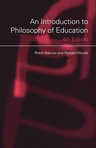 9780415381260: An Introduction to Philosophy of Education