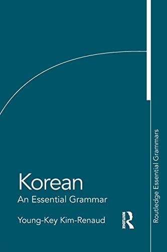 9780415383882: Korean: An Essential Grammar (Routledge Essential Grammars)