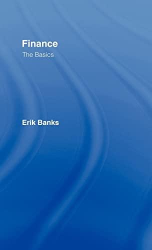 9780415384575: Finance: The Basics