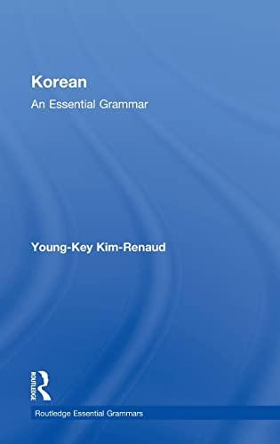 9780415385138: Korean: An Essential Grammar (Routledge Essential Grammars)