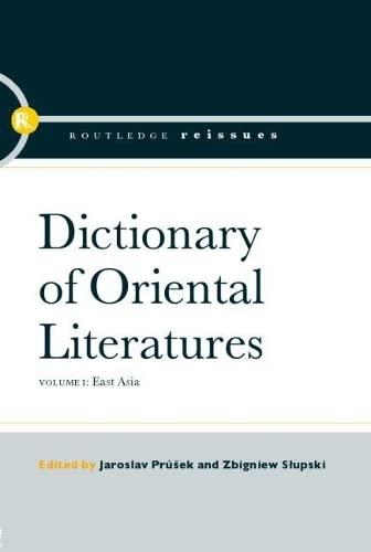 9780415393508: Dictionary of Oriental Literatures (v. 1, v. 2 & v. 3)