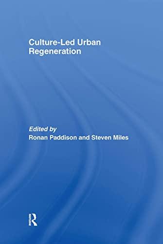 9780415400381: Culture-Led Urban Regeneration (Urban Studies Monographs)