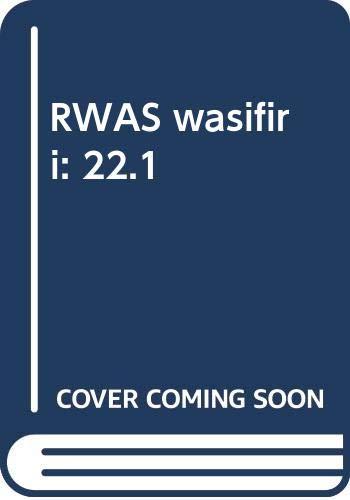 9780415402033: RWAS wasifiri: 22.1
