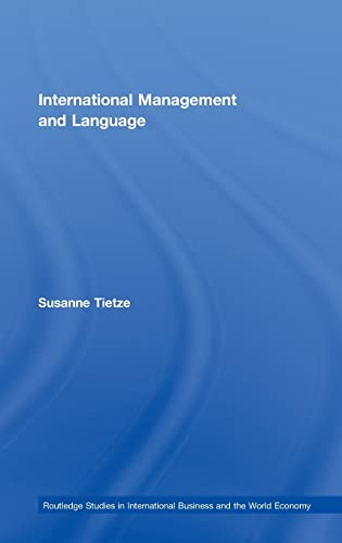International Management and Language (Hardback): Suzanne Tietze