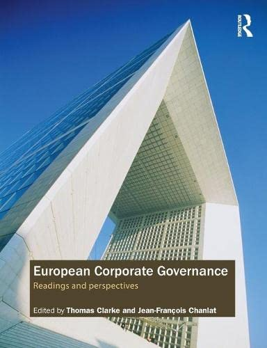 9780415405348: European Corporate Governance: Readings and Perspectives