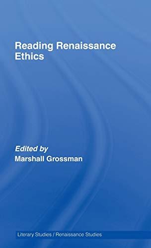 9780415406345: Reading Renaissance Ethics