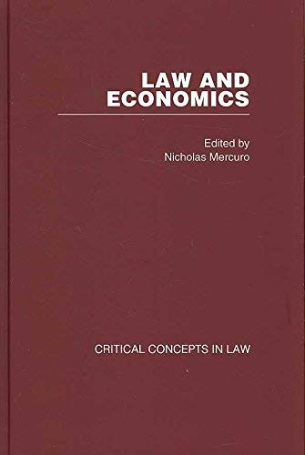 Law and Economics: Critical Concepts in Law (Hardback)