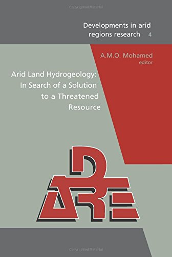 Arid Land Hydrogeology: In Search of a Solution to a Threatened Resource: Proceedings of the Third ...