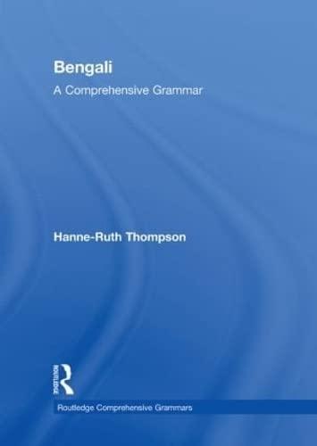 9780415411370: Bengali: A Comprehensive Grammar (Routledge Comprehensive Grammars)