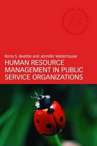 9780415411554: Human Resource Management in Public Service Organizations (Routledge Masters in Public Management)