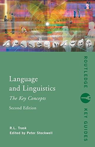 9780415413596: Language and Linguistics: The Key Concepts (Routledge Key Guides)