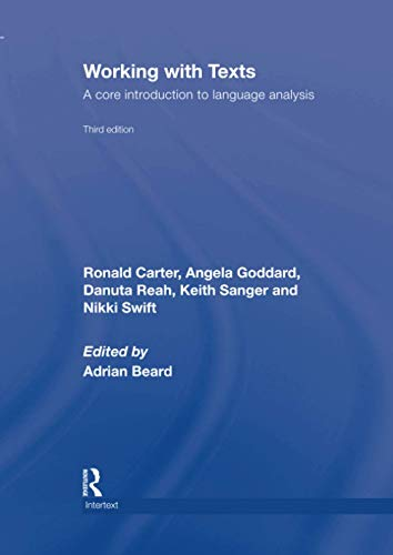 9780415414210: Working with Texts: A Core Introduction to Language Analysis