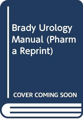 9780415417815: Brady Urology Manual (Pharma Reprint)