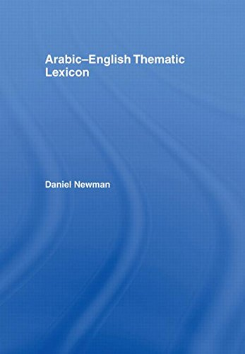 9780415420938: Arabic-English Thematic Lexicon