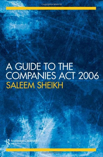 9780415421072: A Guide to The Companies Act 2006