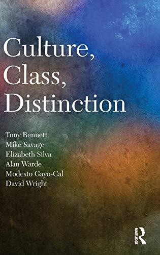 9780415422420: Culture, Class, Distinction (CRESC)