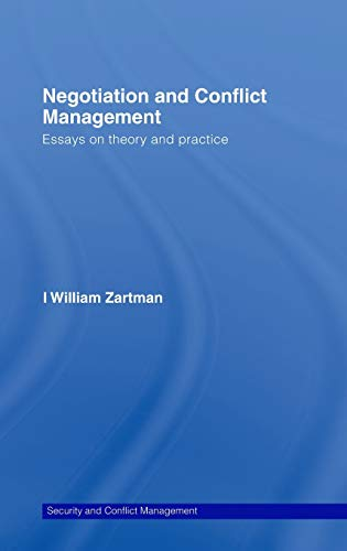 9780415429504: Negotiation and Conflict Management: Essays on Theory and Practice (Routledge Studies in Security and Conflict Management)