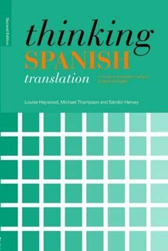 9780415440042 Thinking Spanish Translation A Course In Method To English