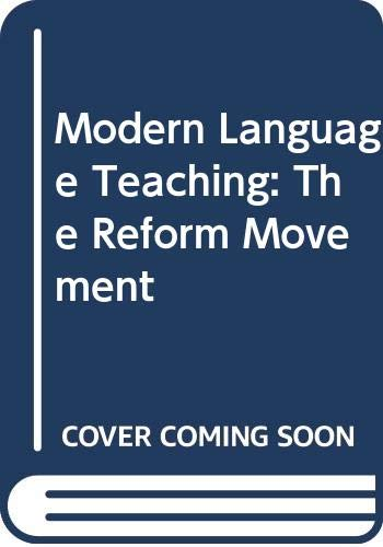 9780415442183: Modern Language Teaching: The Reform Movement