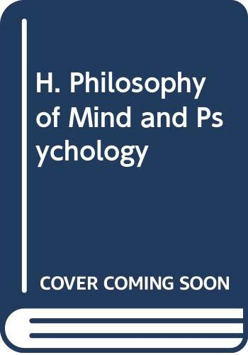 9780415442824: H. Philosophy of Mind and Psychology