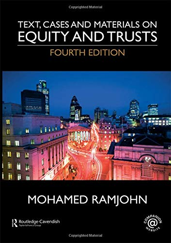 9780415442930: Text, Cases and Materials on Equity and Trusts