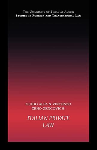 PB Direct Italian Private Law (UT Austin: Alpa, Guido and