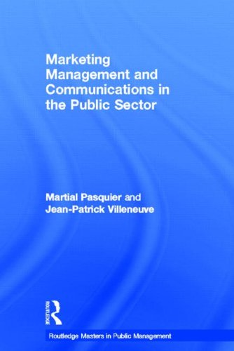 9780415448970: Marketing Management and Communications in the Public Sector (Routledge Masters in Public Management)