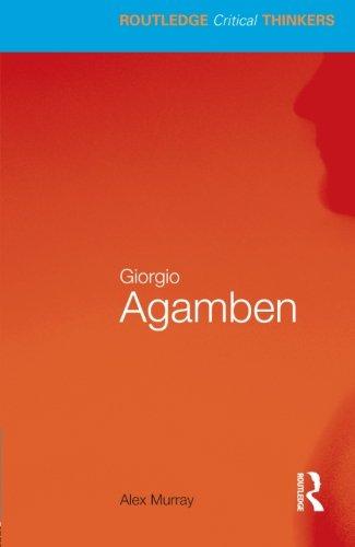 9780415451697: Giorgio Agamben (Routledge Critical Thinkers)