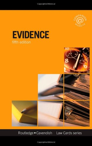 Evidence Lawcards 5/e: Fifth edition: Routledge