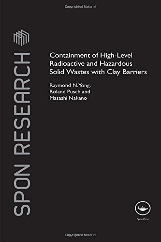 9780415458207: Containment of High-Level Radioactive and Hazardous Solid Wastes with Clay Barriers (Spon Research)