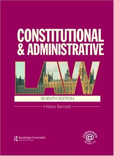 9780415458290: Constitutional & Administrative Law (Volume 1)