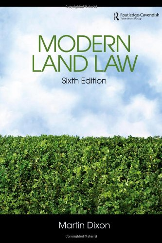 Buy modern land law by martin dixon with free delivery | wordery. Com.