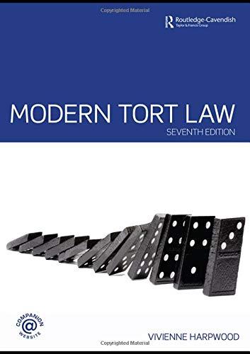 9780415458450: Modern Tort Law